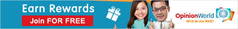 Earn rewards for completing surveys at OpinionWorld Singapore
